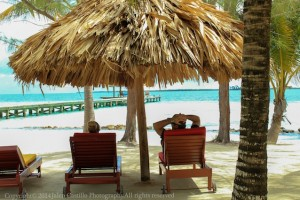 The amazing view from our cabanas at our Belize All Inclusive Private Island Resort