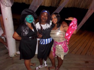 Our amazing staff for Halloween at our Belize All Inclusive Private Island