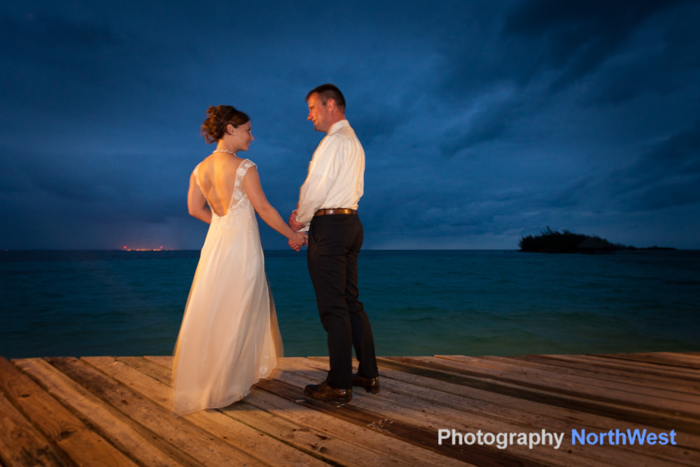 Couple getting married on a Belize private island