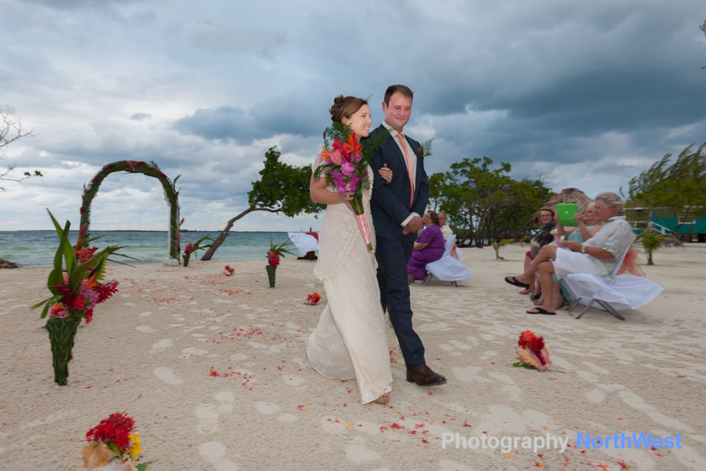 Walking down the aisle of your private island beach wedding