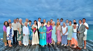 Andrew and Ellie's Wedding Party on the secluded private island