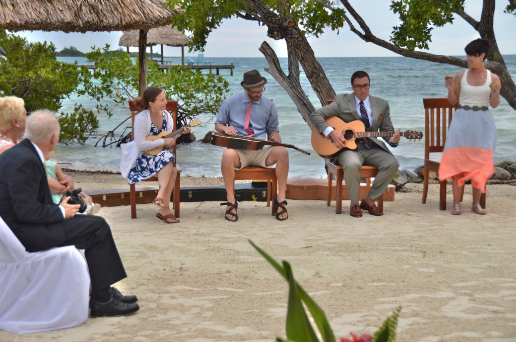 Band for all inclusive private island wedding