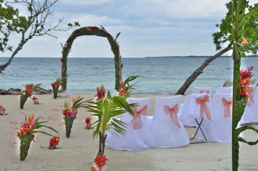 All Inclusive Beach Wedding Decor on a Private Island