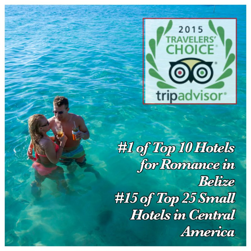 Coco Plum Island Resort is a TripAdvisor Award Winner for Romance and Small Hotel in Belize