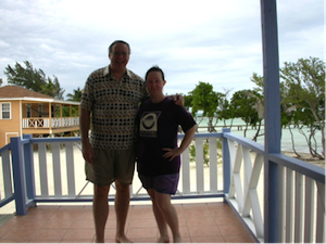 Don and Pam arriving in Coco Plum Island Resort, Belize!