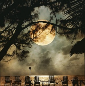 romantic moonlight at belize private island