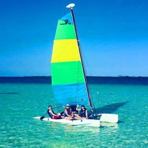Set sail around our Belize private island with the complimentary use of hobie cats