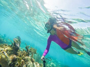 Snorkel atop the coral reef of Belize!