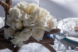 Belize Beach Wedding Floral Arrangement