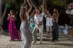 Belize Beach Wedding Reception