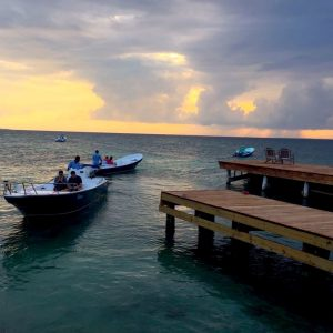 Romantic sunset cruise in Belize
