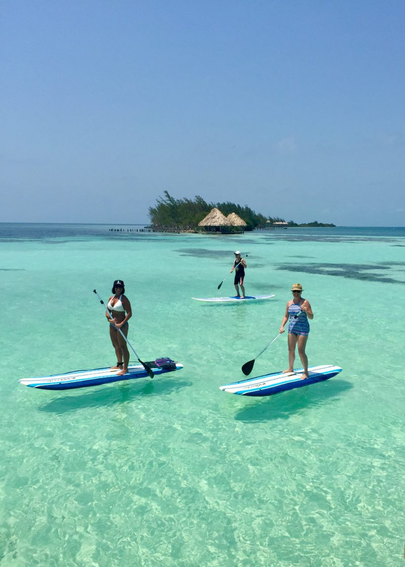 stand-up-paddle-boarding-at-coco-plum-island-resort