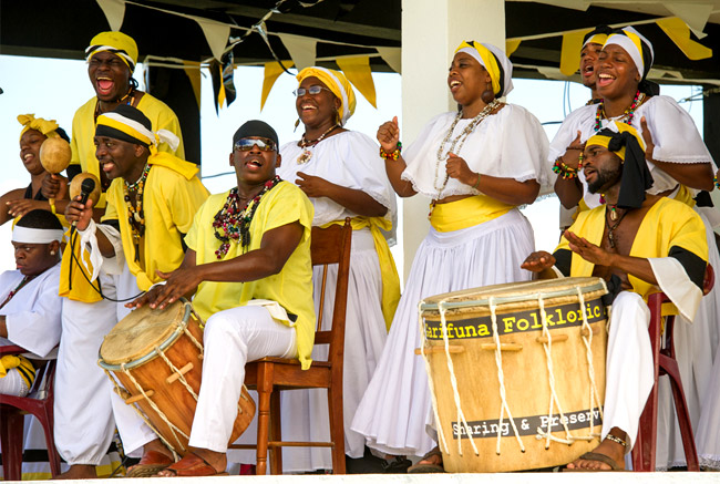 Garifuna dancing and drumming at Coco Plum Island Resort