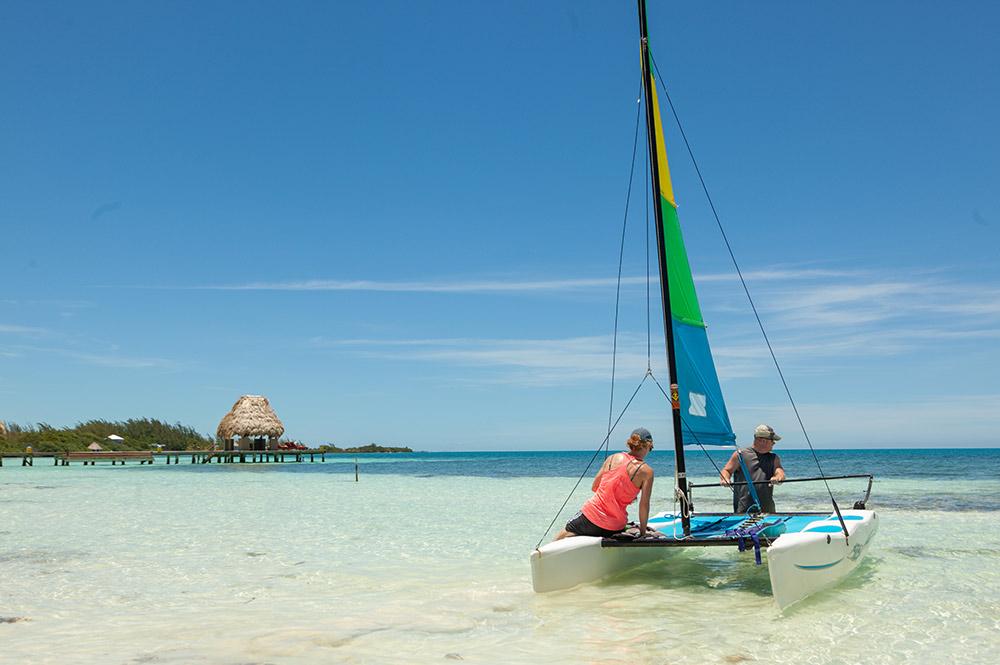 Hobie Cat Sailing in Belize