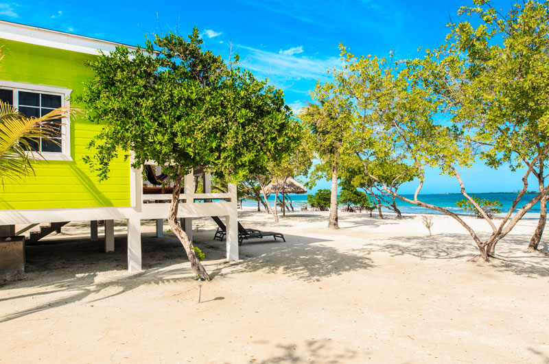 Belize beachfront cabanas