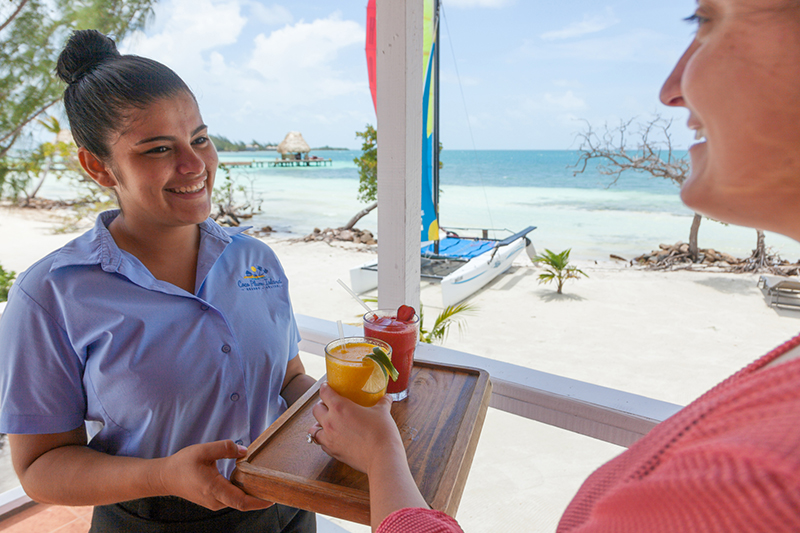 Service with a smile at Coco Plum Island