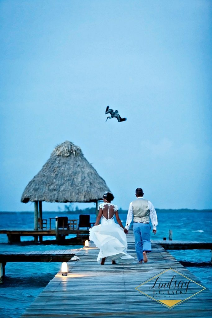 David and Ashley's Belize private island wedding