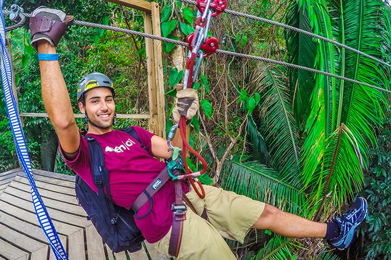belize adventure tours - ziplining