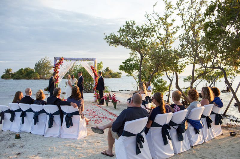 belize wedding all inclusive at a private island