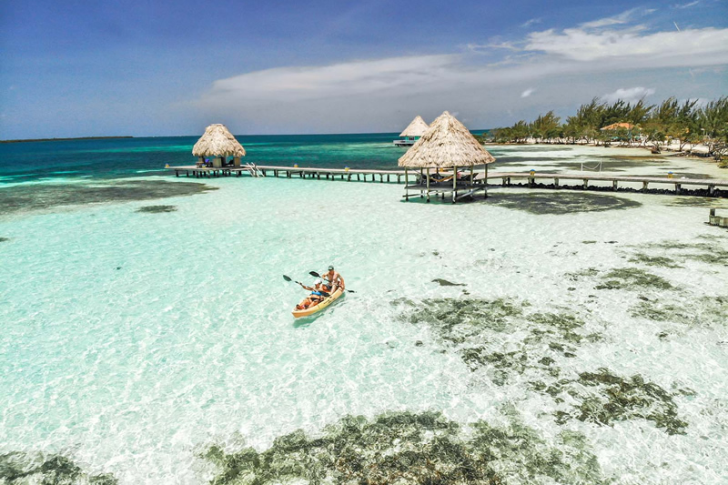 Vacation in a private island resort in Belize